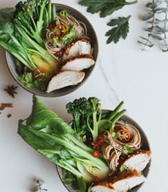 Asian Chicken Broth Bowl