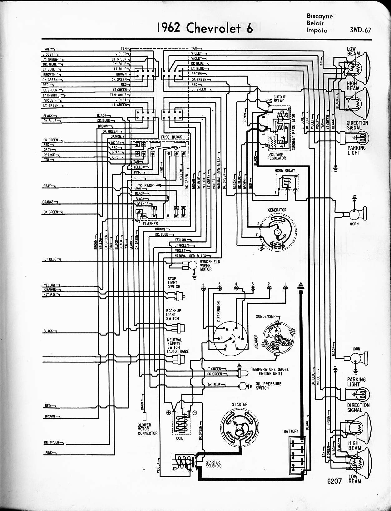 1962 Chevy Truck Wiring Diagram 57 65 Chevy Wiring