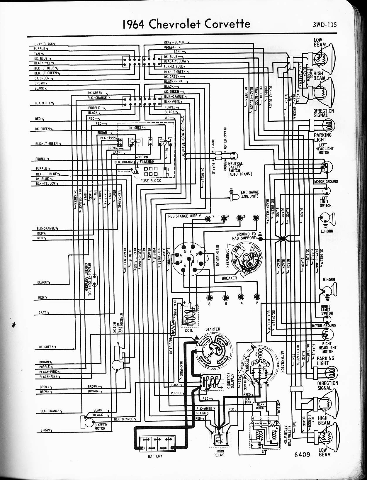 hight resolution of 1964 corvette wiring diagram wiring diagram paper 1964 corvette wiring harness