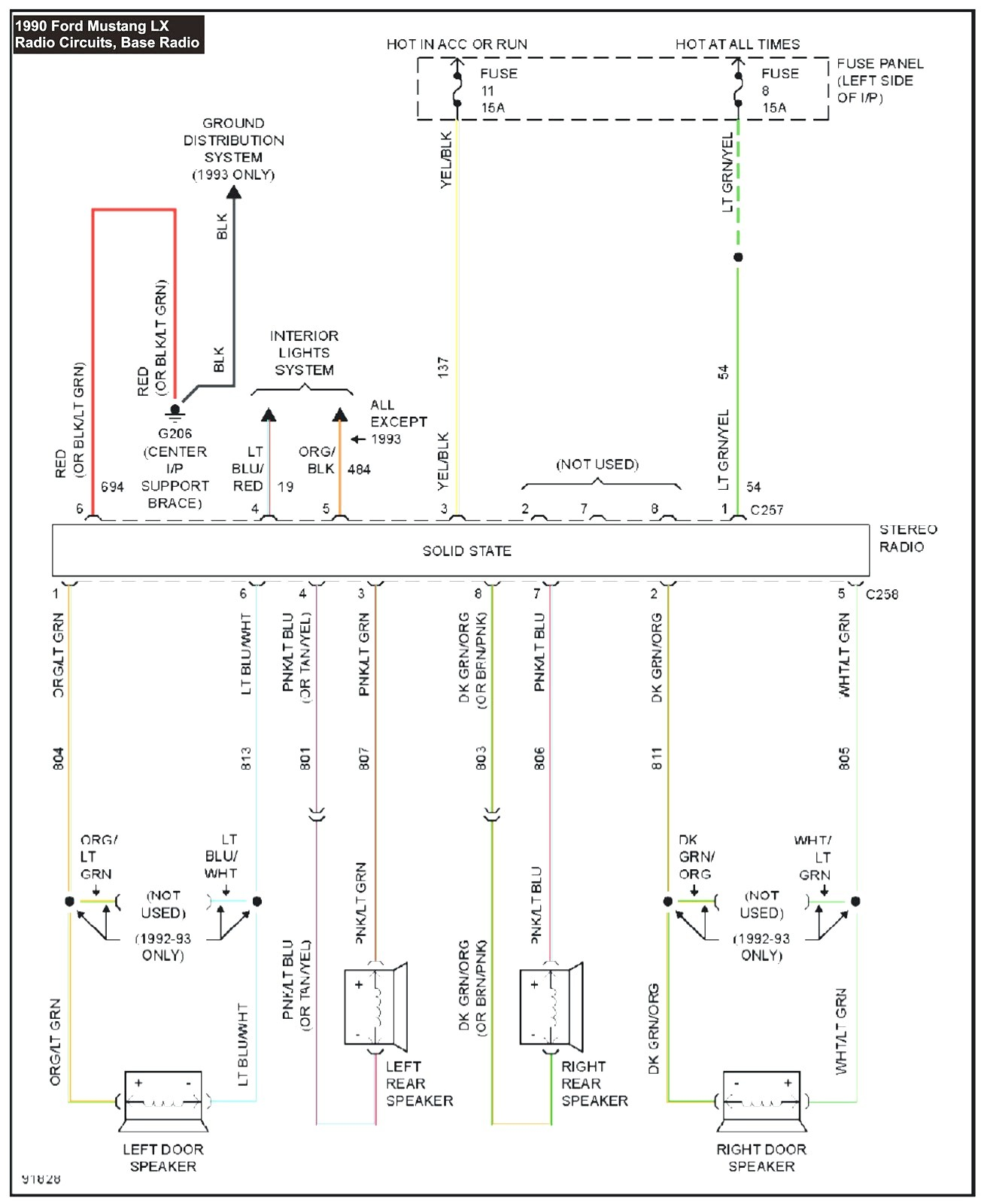 hight resolution of 1990 mustang wiring diagram my