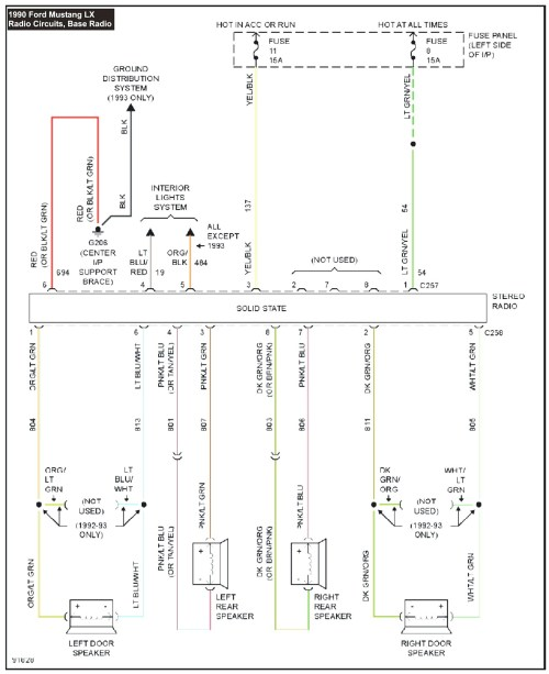 small resolution of 1990 mustang wiring diagram my