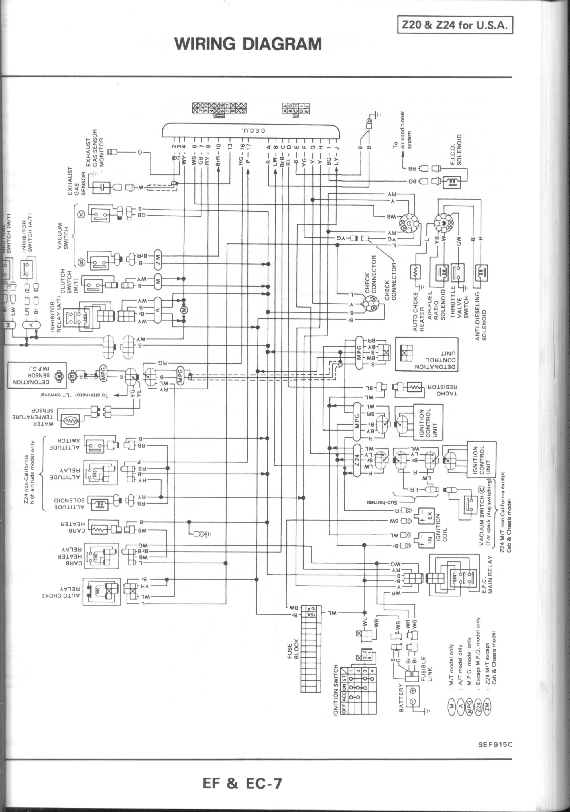 hight resolution of 1995 nissan pickup engine diagram diagram also 1980 nissan pulsar nx wiring harness wiring diagram of