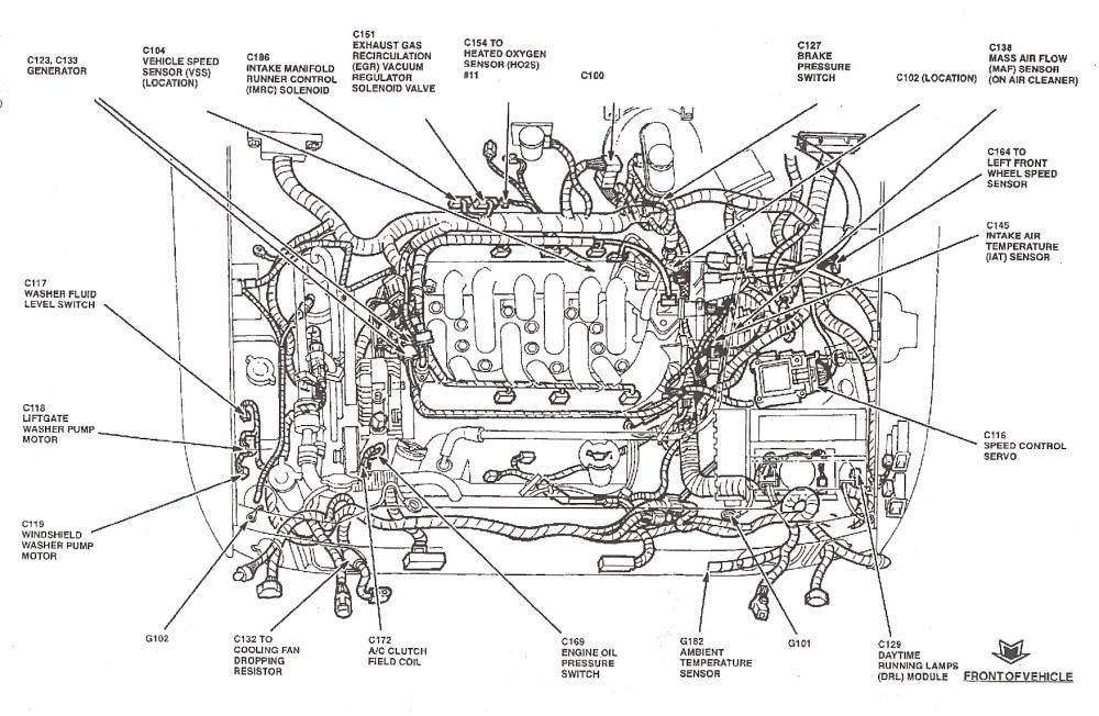 medium resolution of 1998 ford taurus engine diagram 2000 ford windstar wiring diagram blurts of 1998 ford taurus engine
