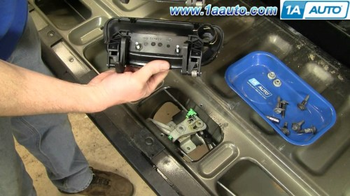 small resolution of 2000 ford explorer parts diagram how to install replace tailgate handle ford f150 97 03 sport trac 01