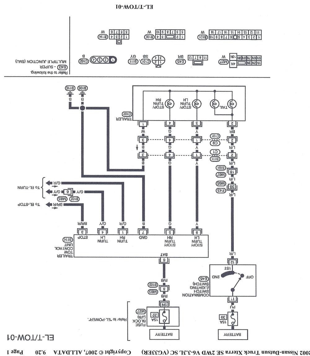 medium resolution of 7 pin trailer wiring diagram nissan frontier nissan frontier dome lighting diagram nissan frontier interior lighting diagram