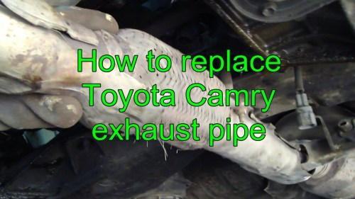 small resolution of 2000 toyota camry engine diagram how to replace toyota camry exhaust pipe years 1992 to 2002