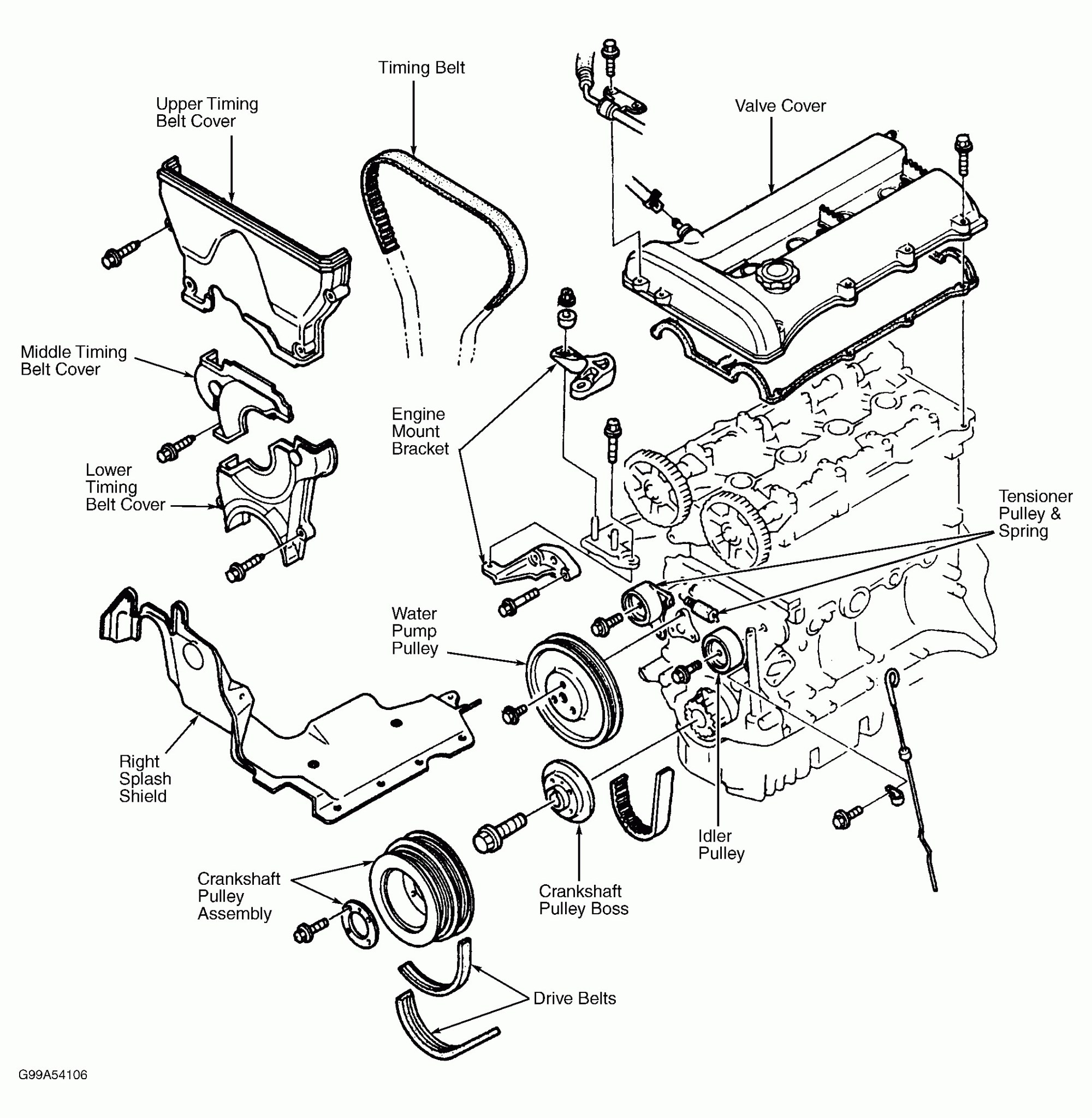hight resolution of diagram of a 1999 mazda millenia timing belt 2000 mazda protege 1999 mazda protege engine diagram