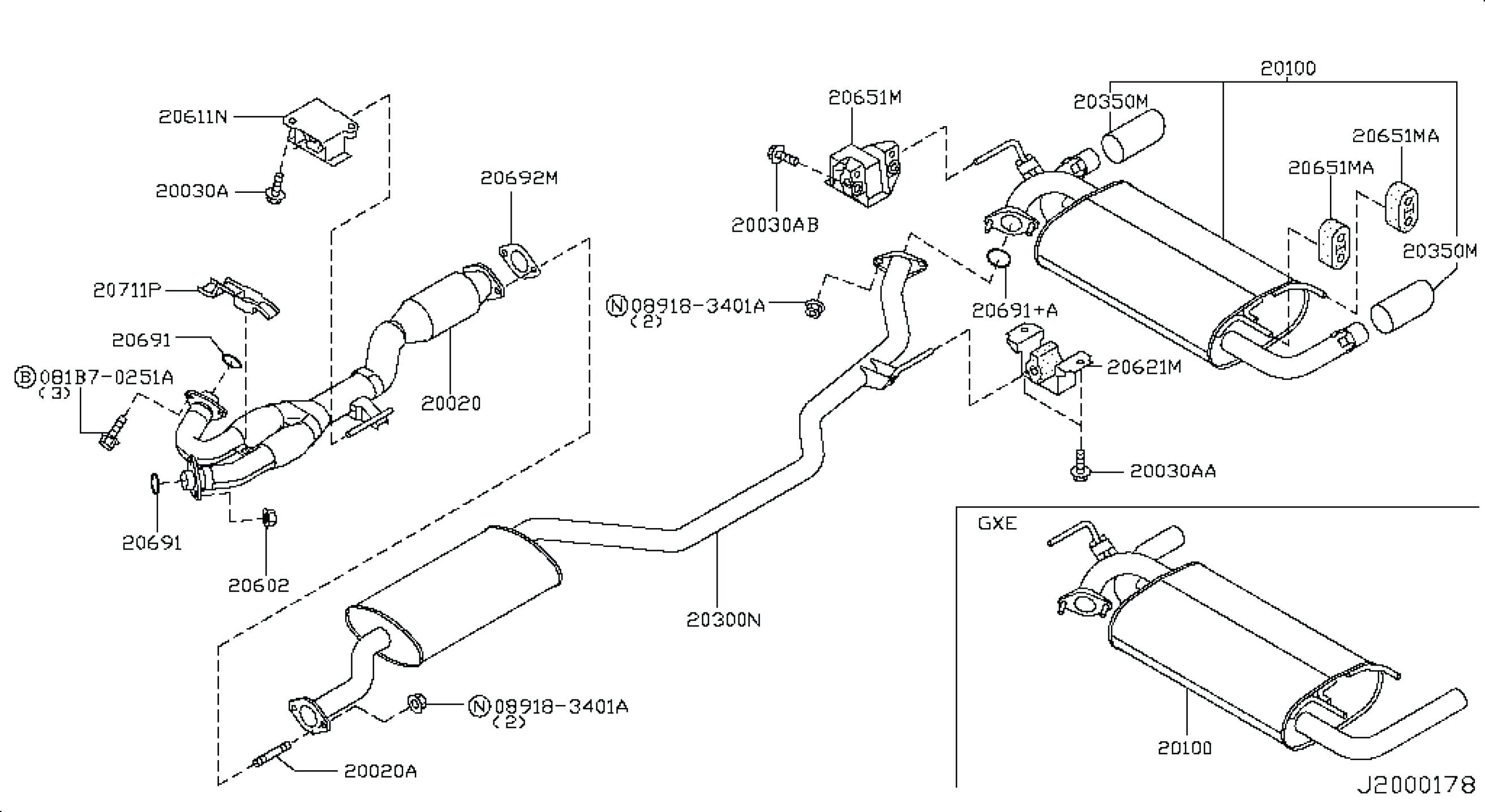 Subaru Outback Exhaust System Diagram
