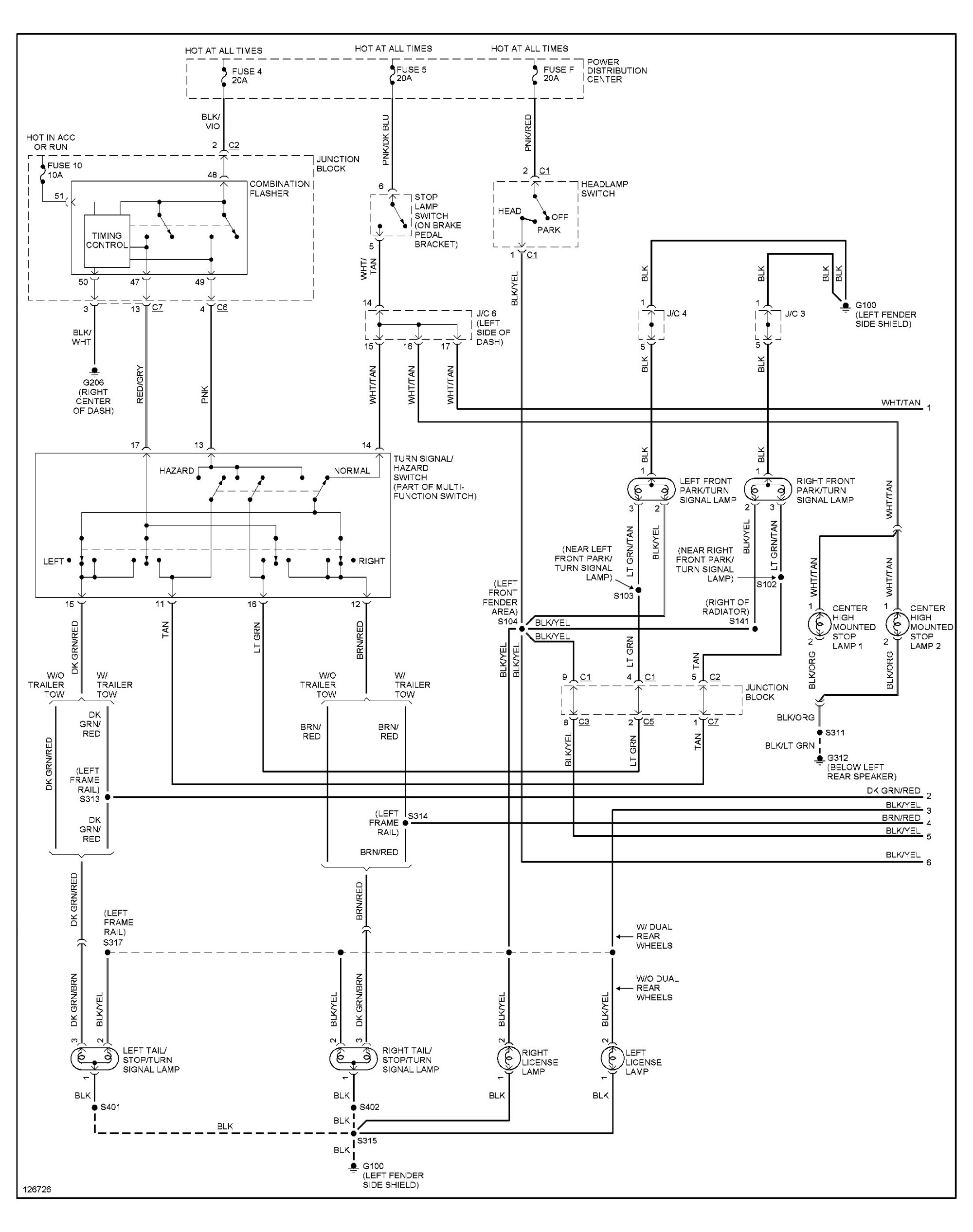 hight resolution of 2003 dodge ram tail light wiring diagram simple wiring diagram schema basic tail light wiring chevy 1989 dodge truck tail light wiring