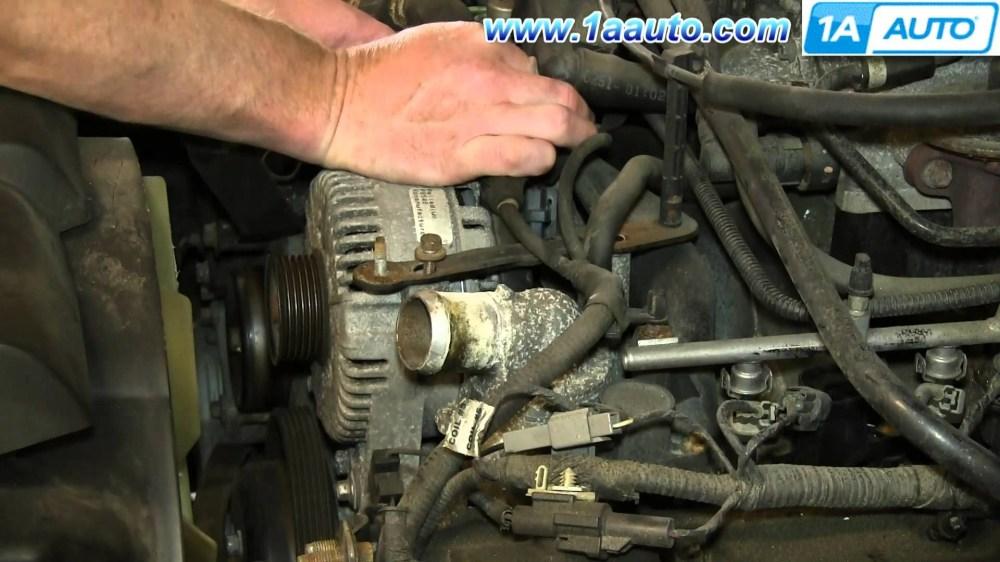 medium resolution of 2003 ford explorer sport trac engine diagram how to install replace engine alternator 4 6l v8