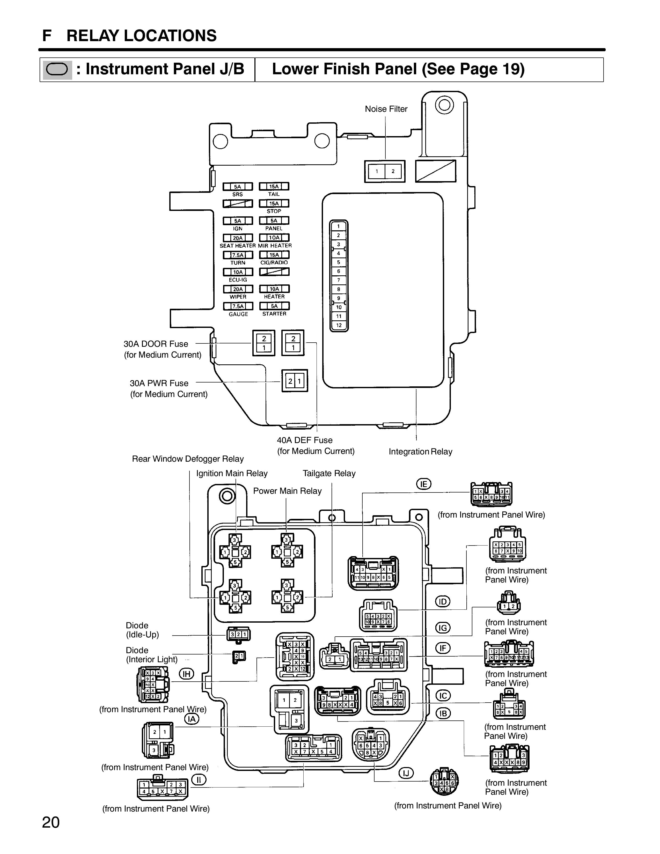brake light relay wiring diagram lesser omentum 1999 toyota tacoma tail wire best site harness