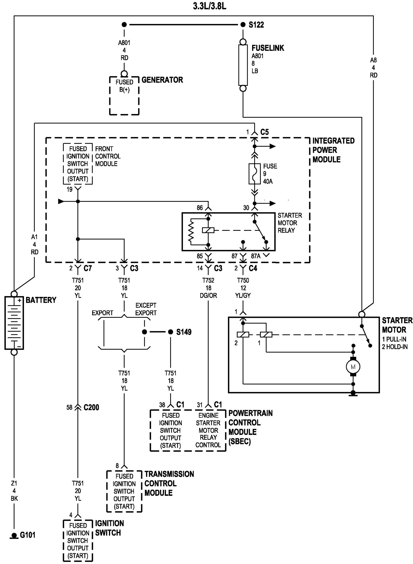 1998 Dodge Dakota Wiring Schematic