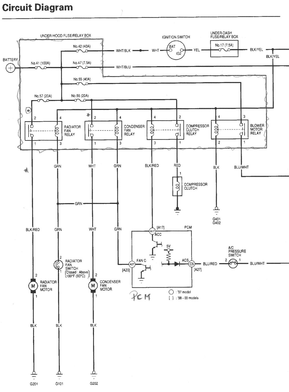 medium resolution of 1993 honda civic radio wiring diagram webnotex com