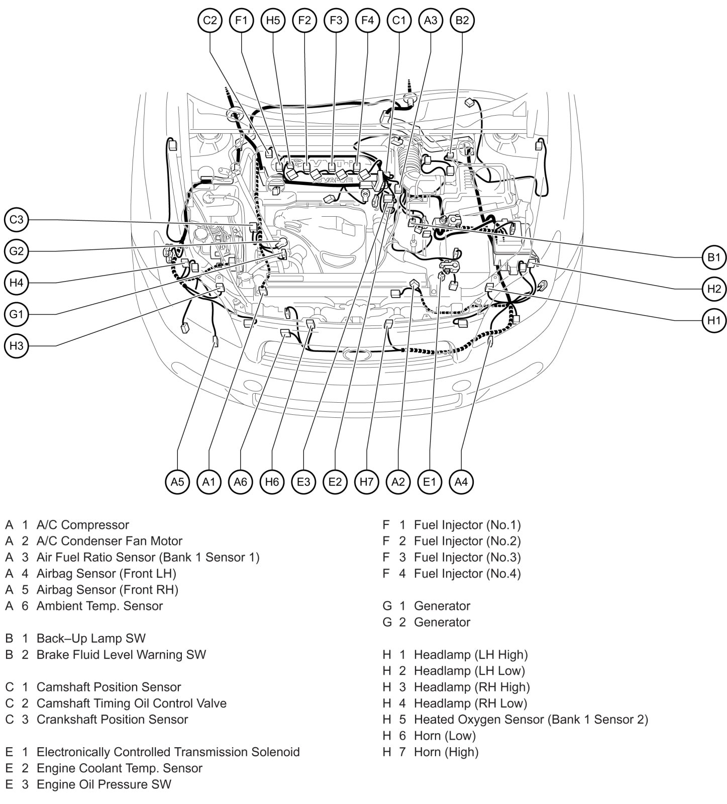 2006 scion xb wiring diagram door lock tc parts my