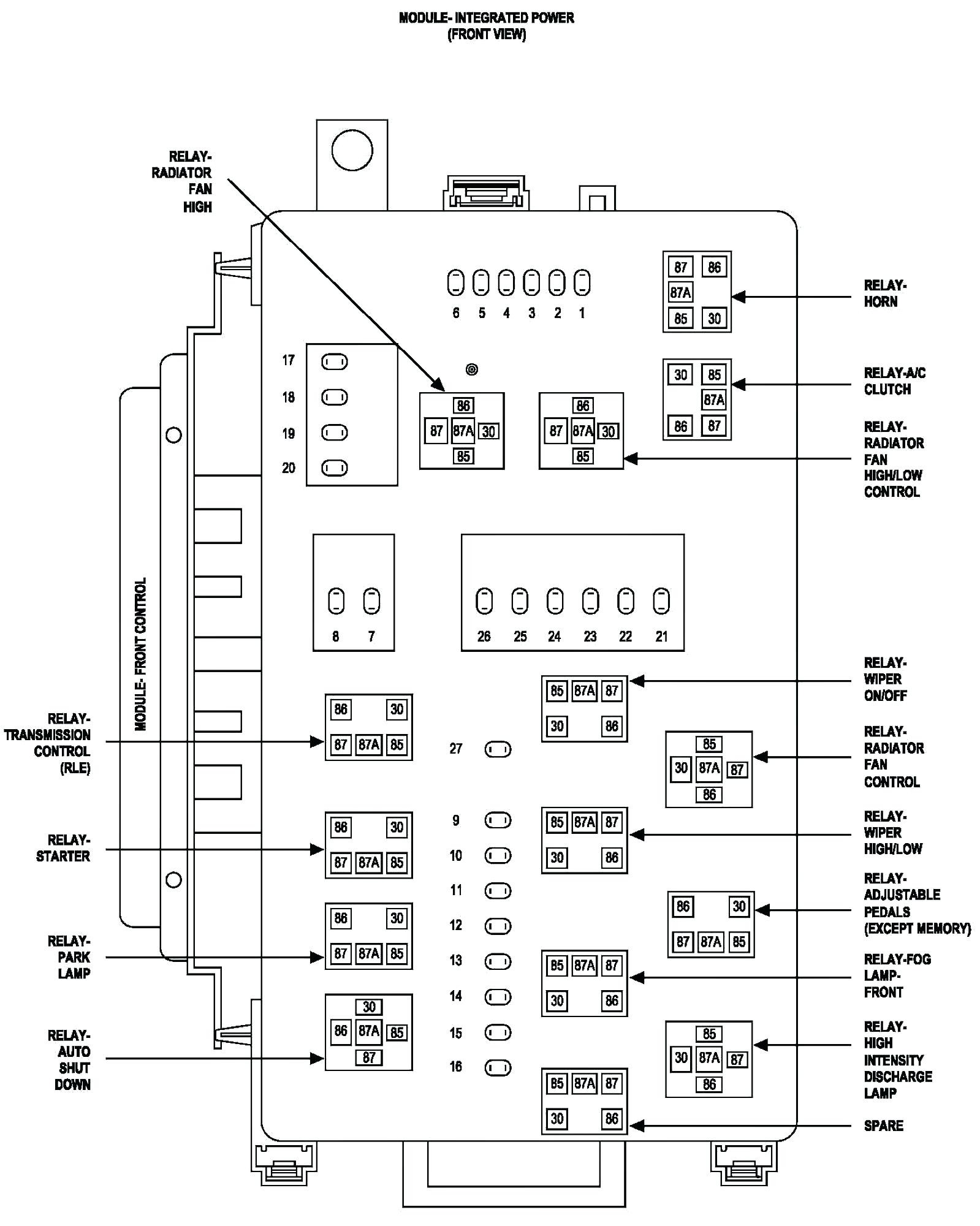 2005 Dodge Stratus Fuse Box Diagram