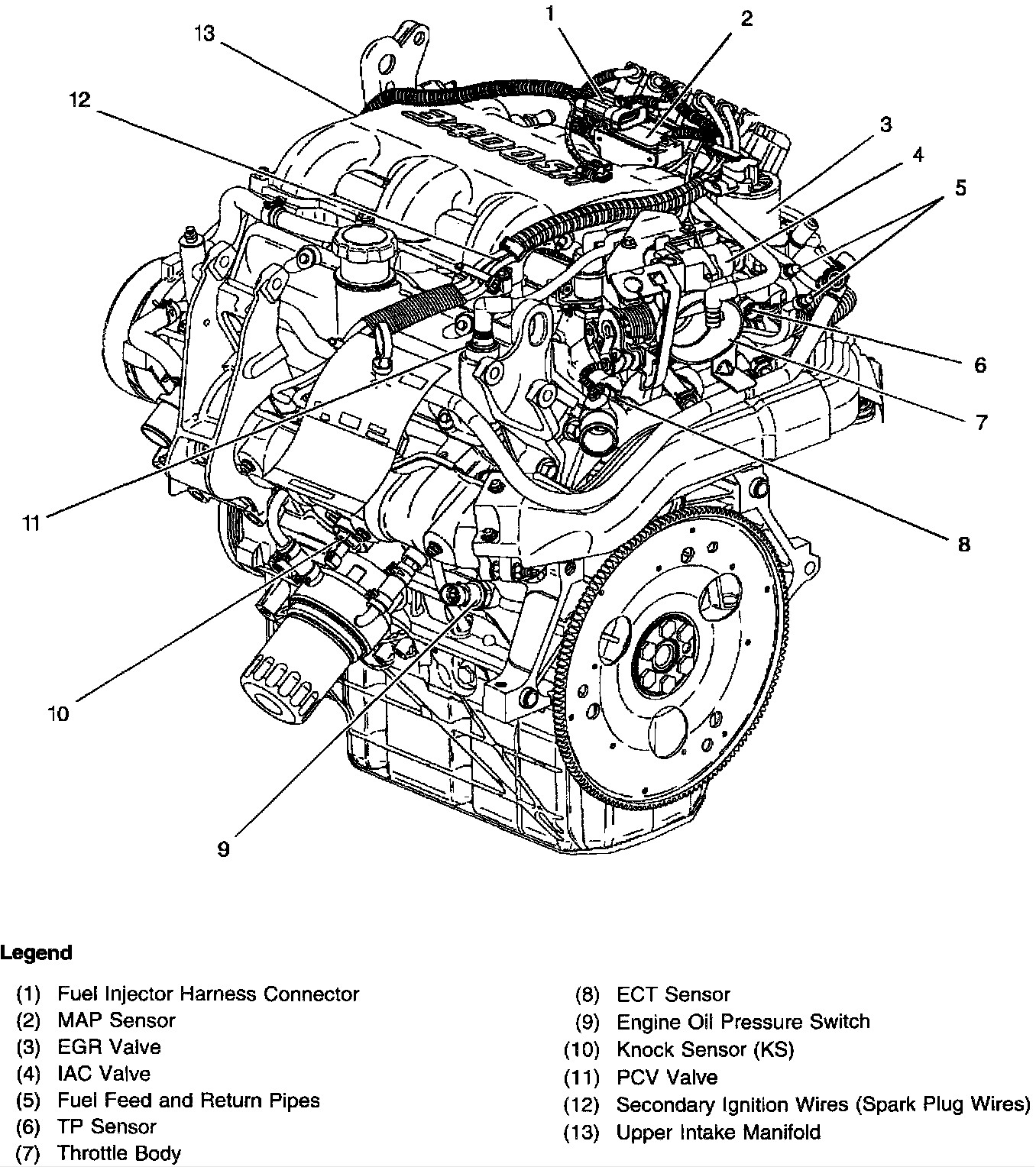 Diagram 3 1 Liter Engine Parts