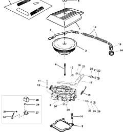 3 liter mercruiser engine diagram carburetor and throttle linkage 4 barrel for mercruiser 4 3l 4 3lx [ 1961 x 2321 Pixel ]