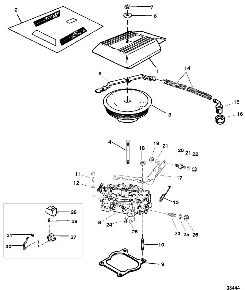 medium resolution of 3 liter mercruiser engine diagram carburetor and throttle linkage 4 barrel for mercruiser 4 3l 4 3lx