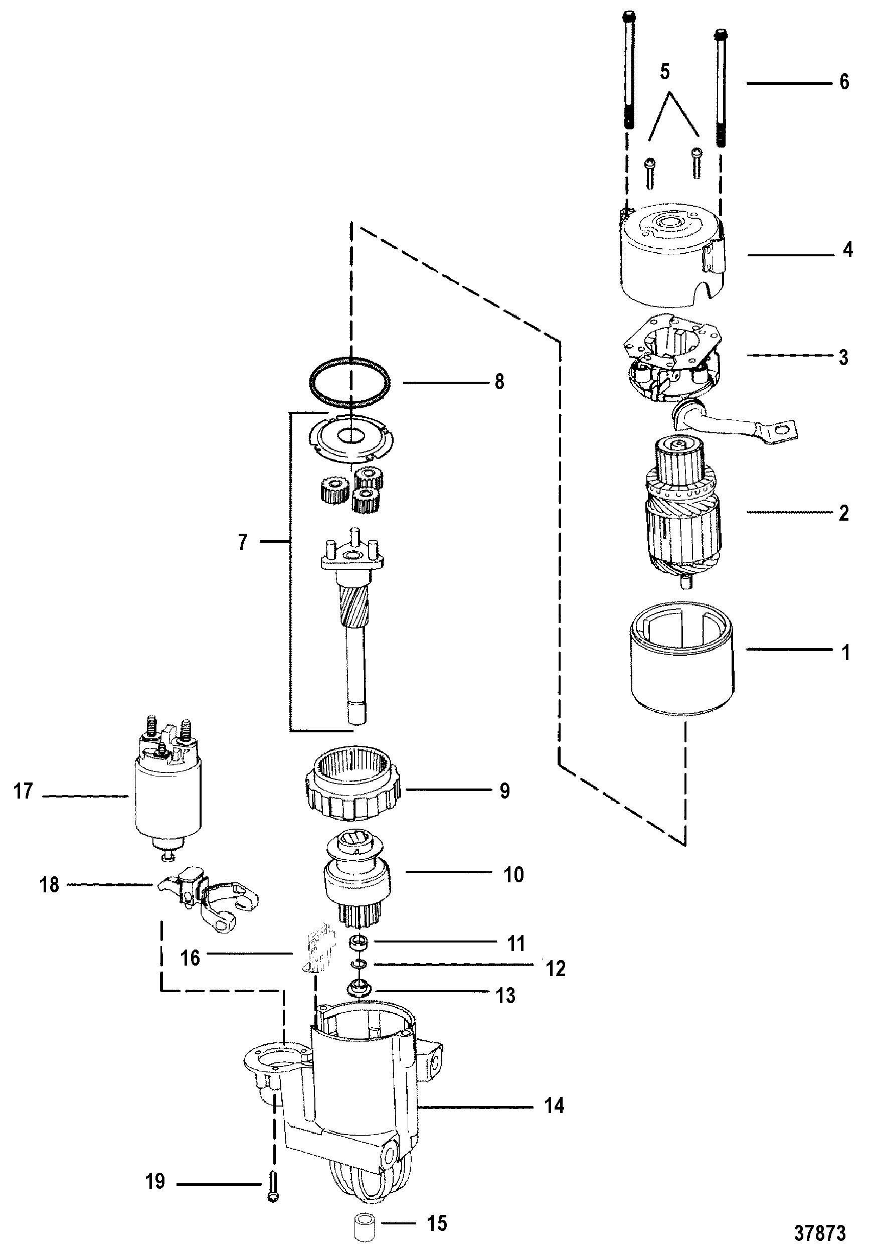 hight resolution of 3 liter mercruiser engine diagram starter motor for mercruiser 7 4l bravo i ii iii engine