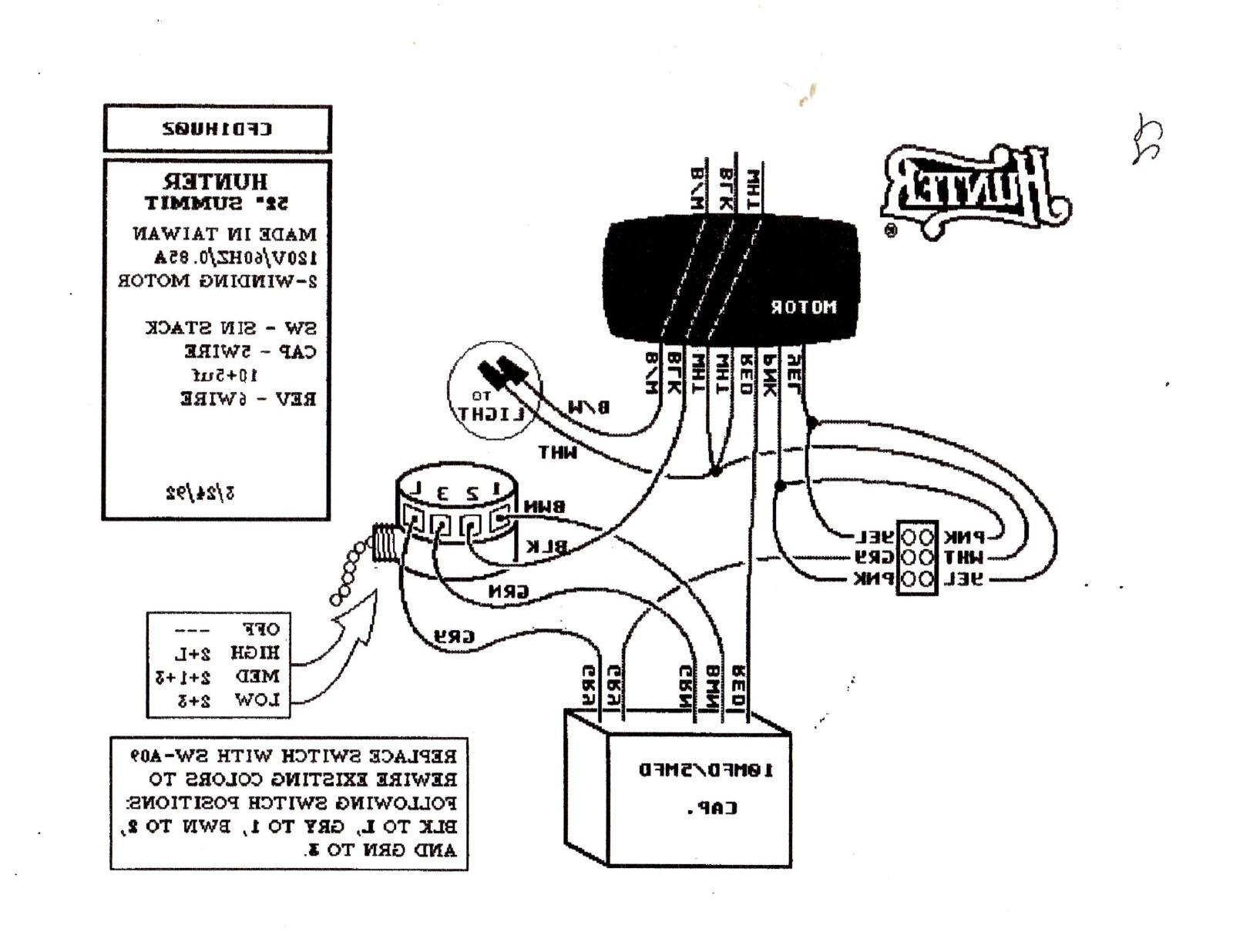 3 Speed Fan Switch Wiring Diagram Hunterng Fan Pull Switch