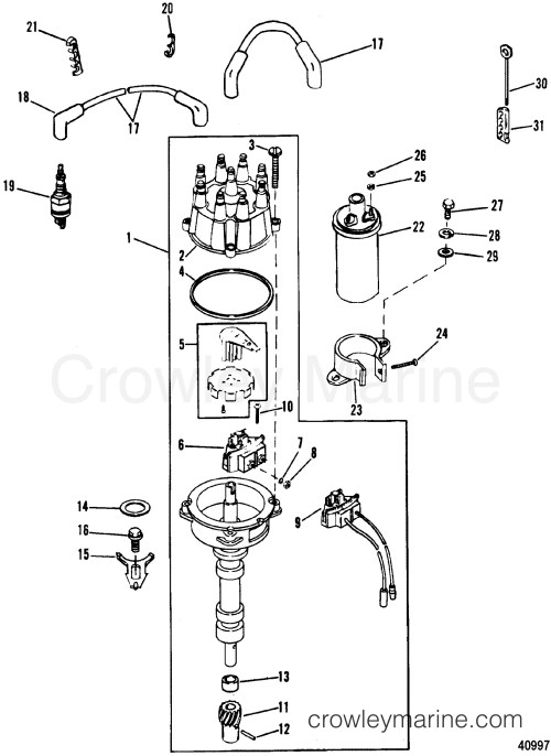 small resolution of 4 3 mercruiser engine diagram distributor ignition ponents thunderbolt iv ignition 1988 of