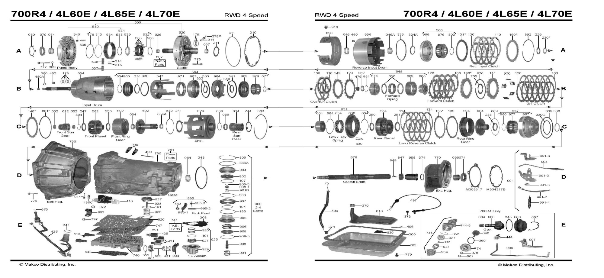 hight resolution of ford aod transmission parts diagram basic electronics wiring diagram 4l80e transmission parts diagram