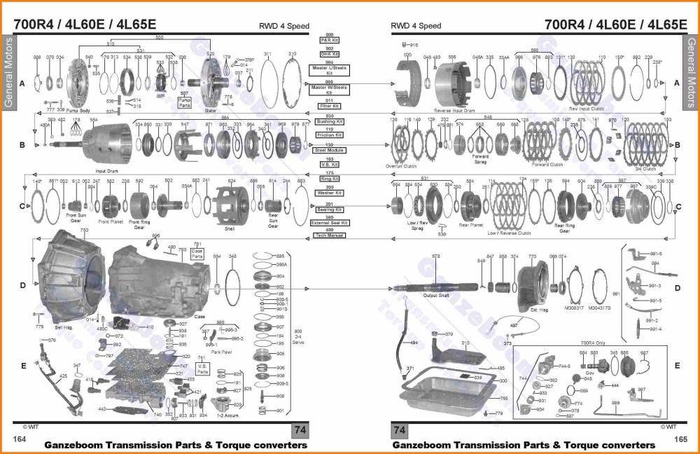 medium resolution of 4r100 transmission parts breakdown