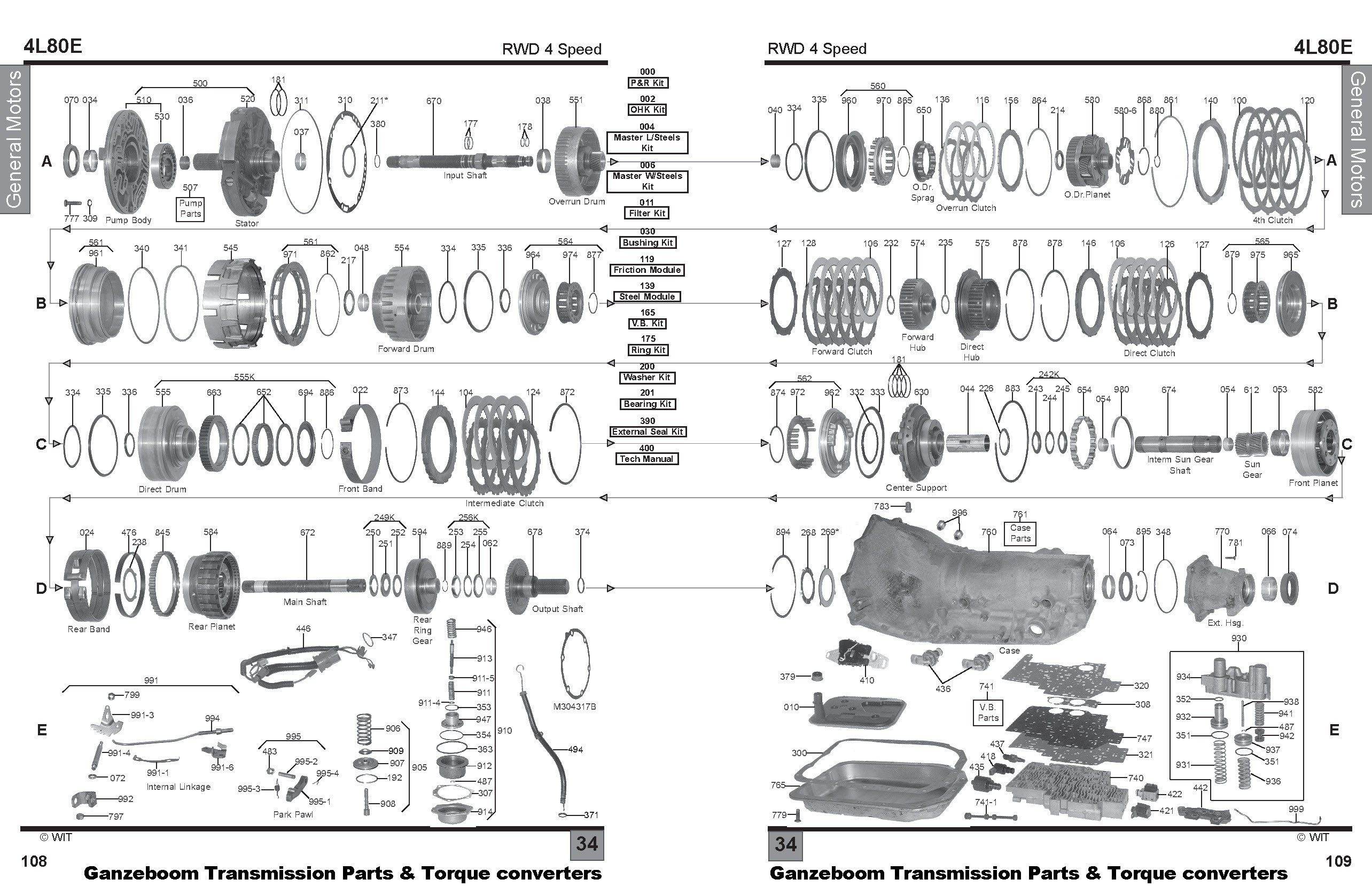 4l80e Transmission Parts Diagram