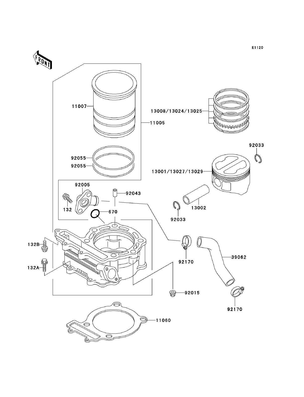 Air Brake Parts Diagram Kawasaki Klr250 Kawasaki Klr250