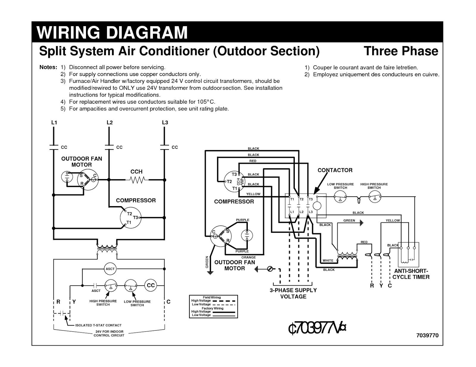 Air Conditioner Wiring Diagram Wiring Diagram Hvac