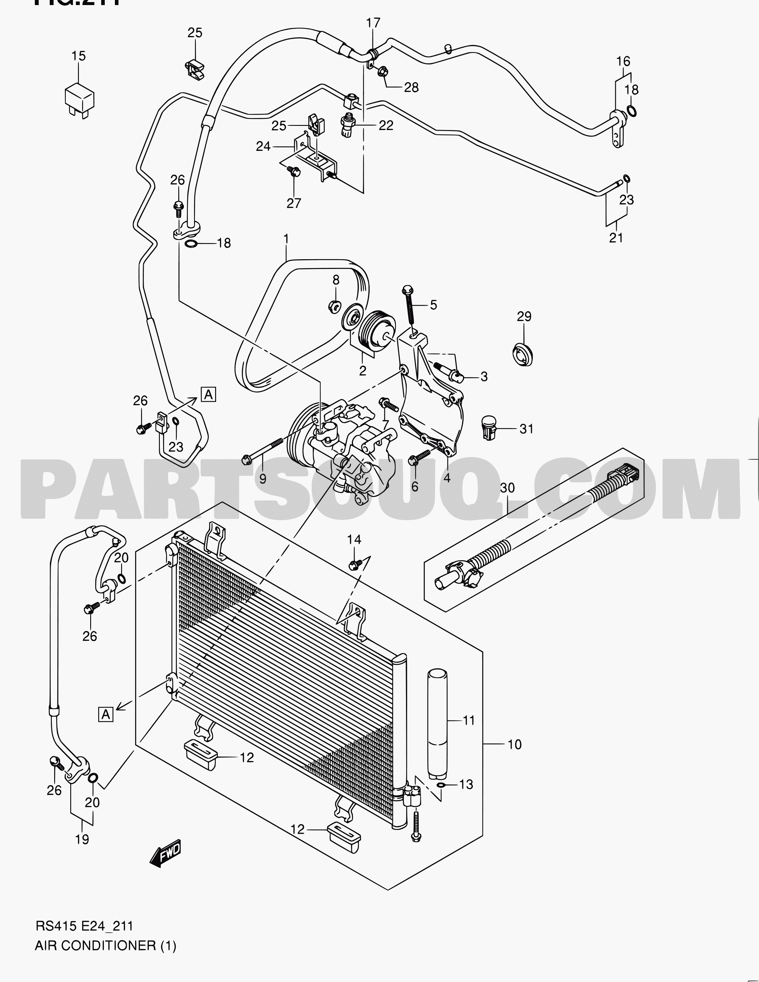 car air conditioning parts diagram 2002 ford taurus radio stereo wiring auto my