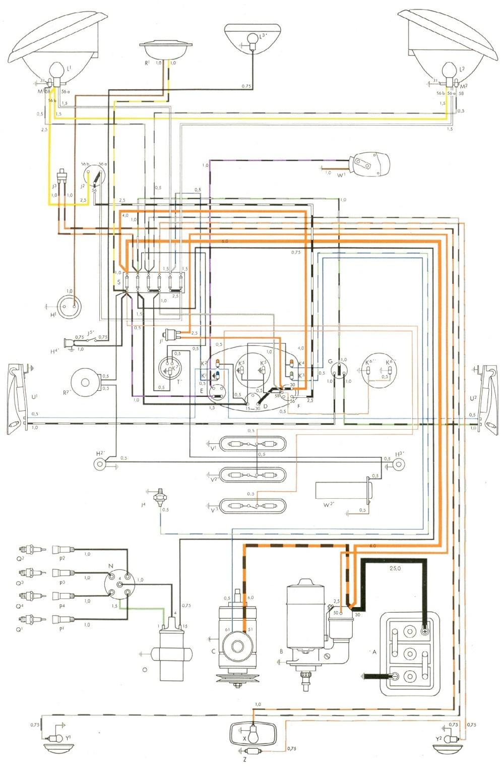 medium resolution of volkswagen bug engine diagram enthusiast wiring diagrams u2022 rh rasalibre co 1961 vw wiring diagram 1961
