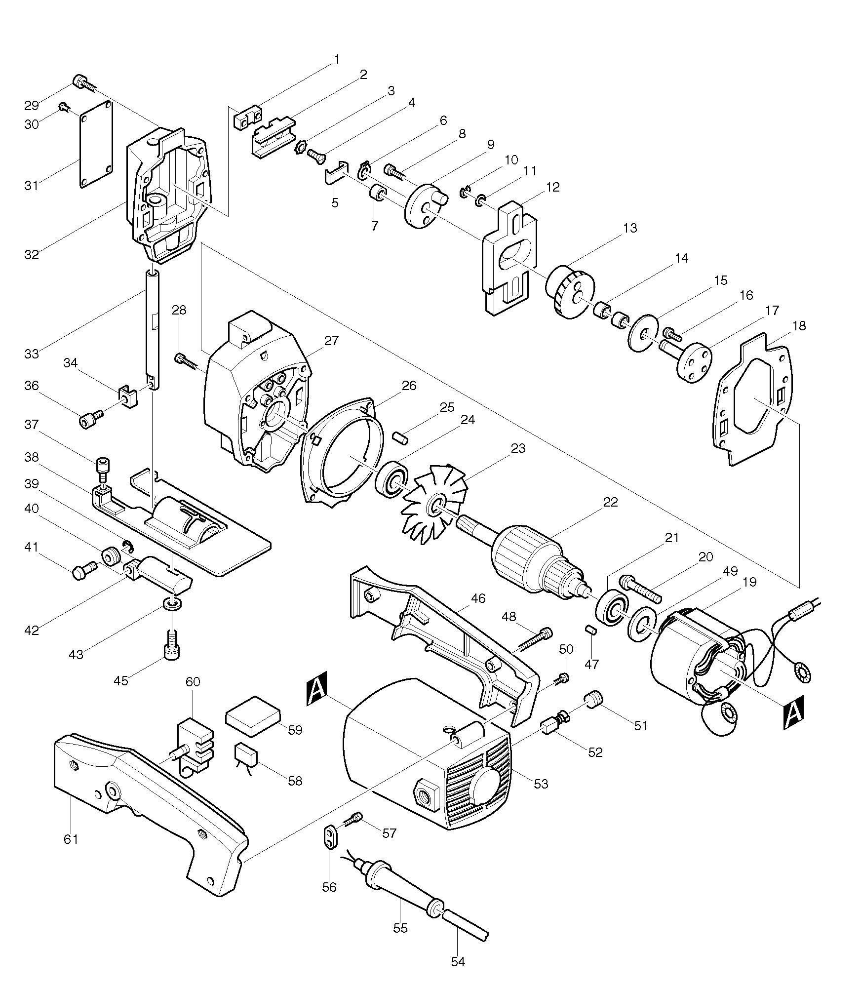 Bosch Jigsaw Parts Diagram