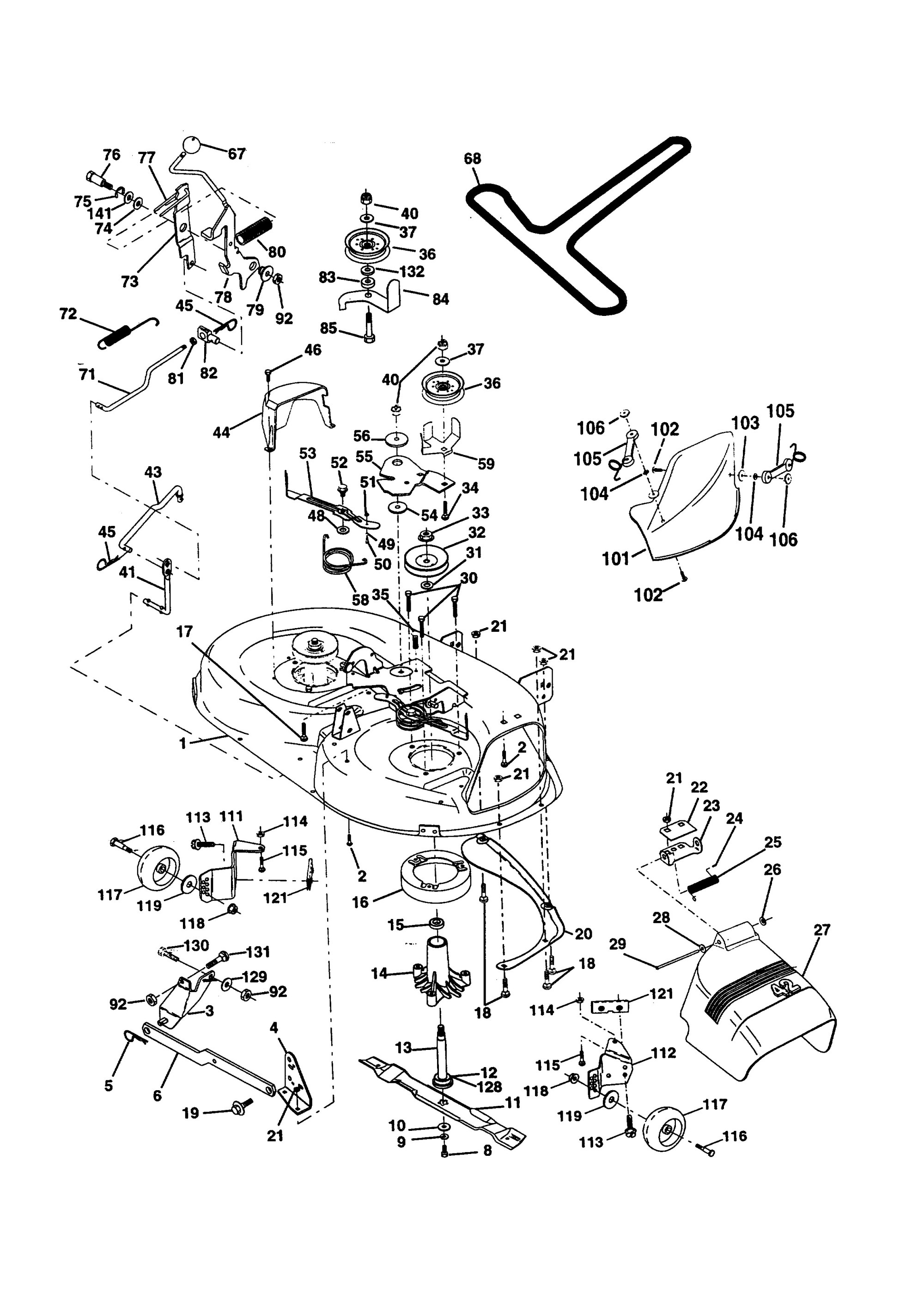 hight resolution of briggs and stratton lawn mower engine parts diagram western auto model ayp9187b89 lawn tractor genuine parts