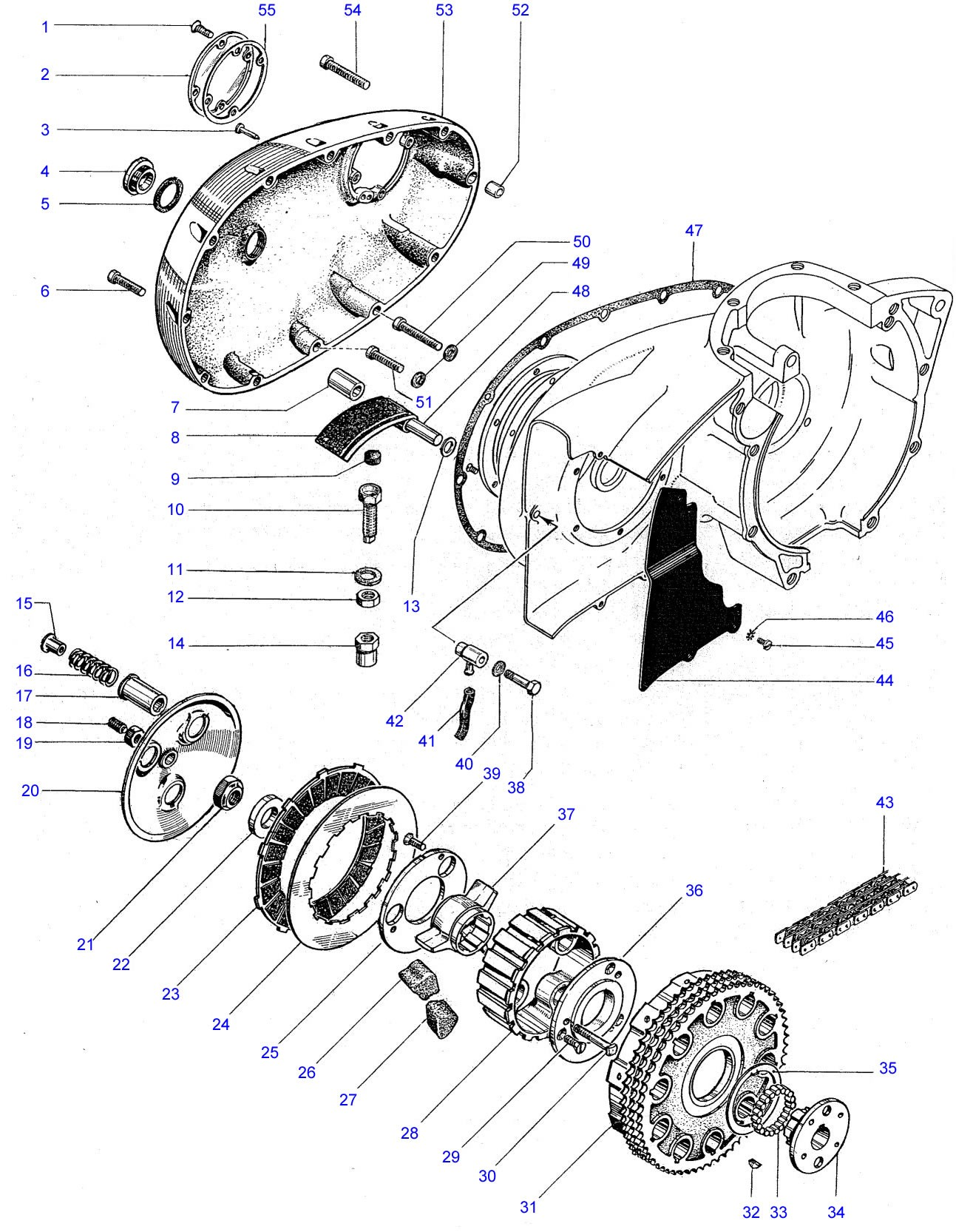 Bsa A65 Engine Diagram Clutch