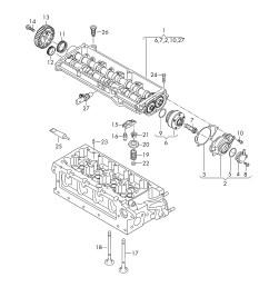 camshaft parts diagram volkswagen passat variant 2015 2017 camshaft adjuster unit of camshaft parts diagram v6 [ 2483 x 3508 Pixel ]