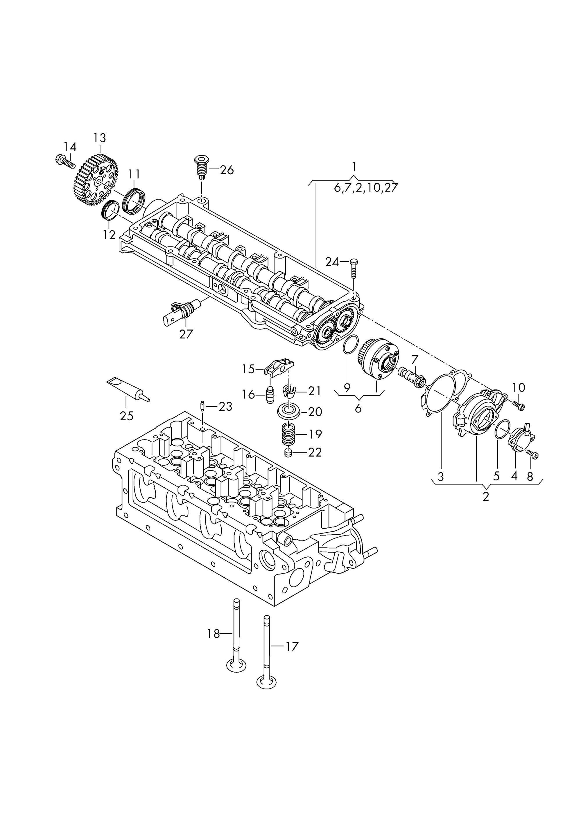 hight resolution of camshaft parts diagram volkswagen passat variant 2015 2017 camshaft adjuster unit of camshaft parts diagram v6