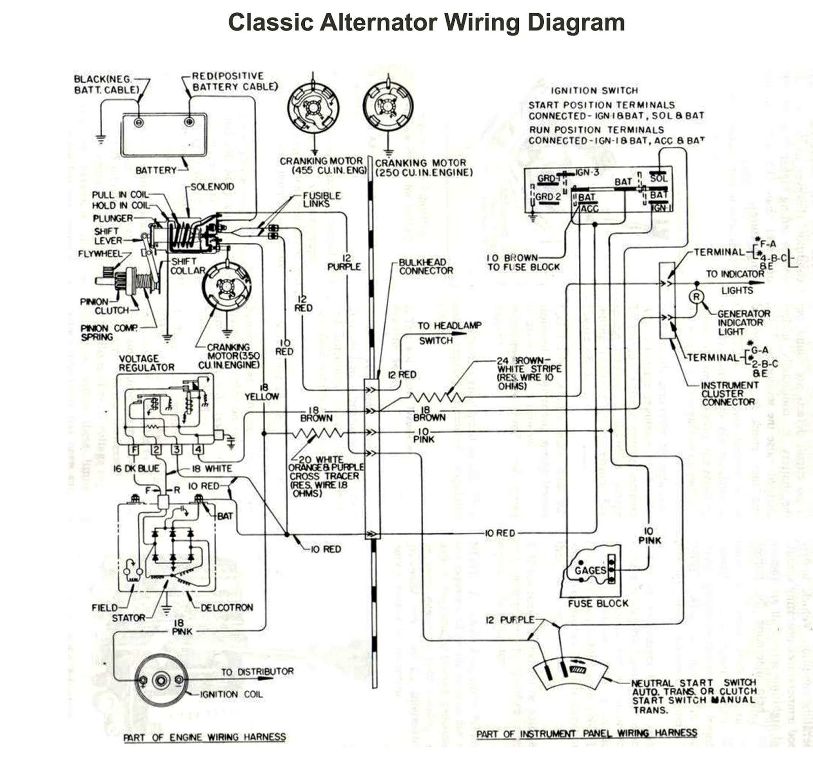 Car Alternator Wiring Diagram ford 3 Wire Alternator