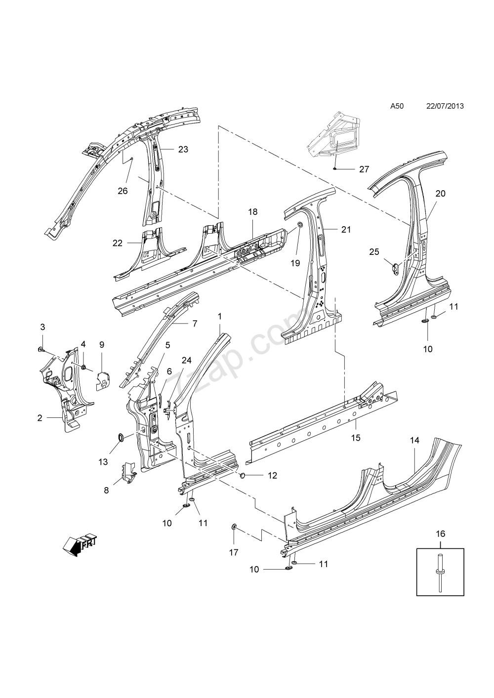 medium resolution of car body panel diagram body side panels saloon 69 opel insignia of car body