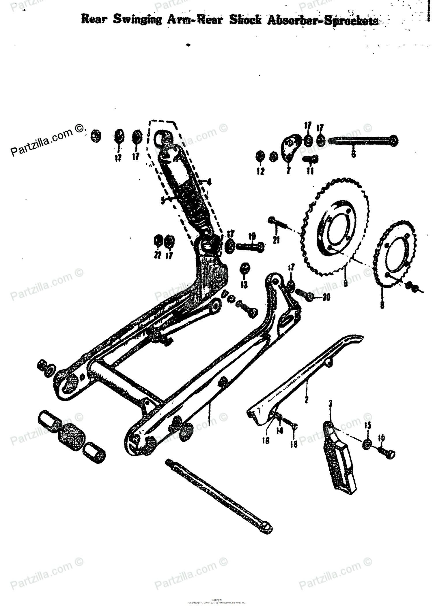 Car Shock Absorber Diagram Suzuki Motorcycle 1971 Oem