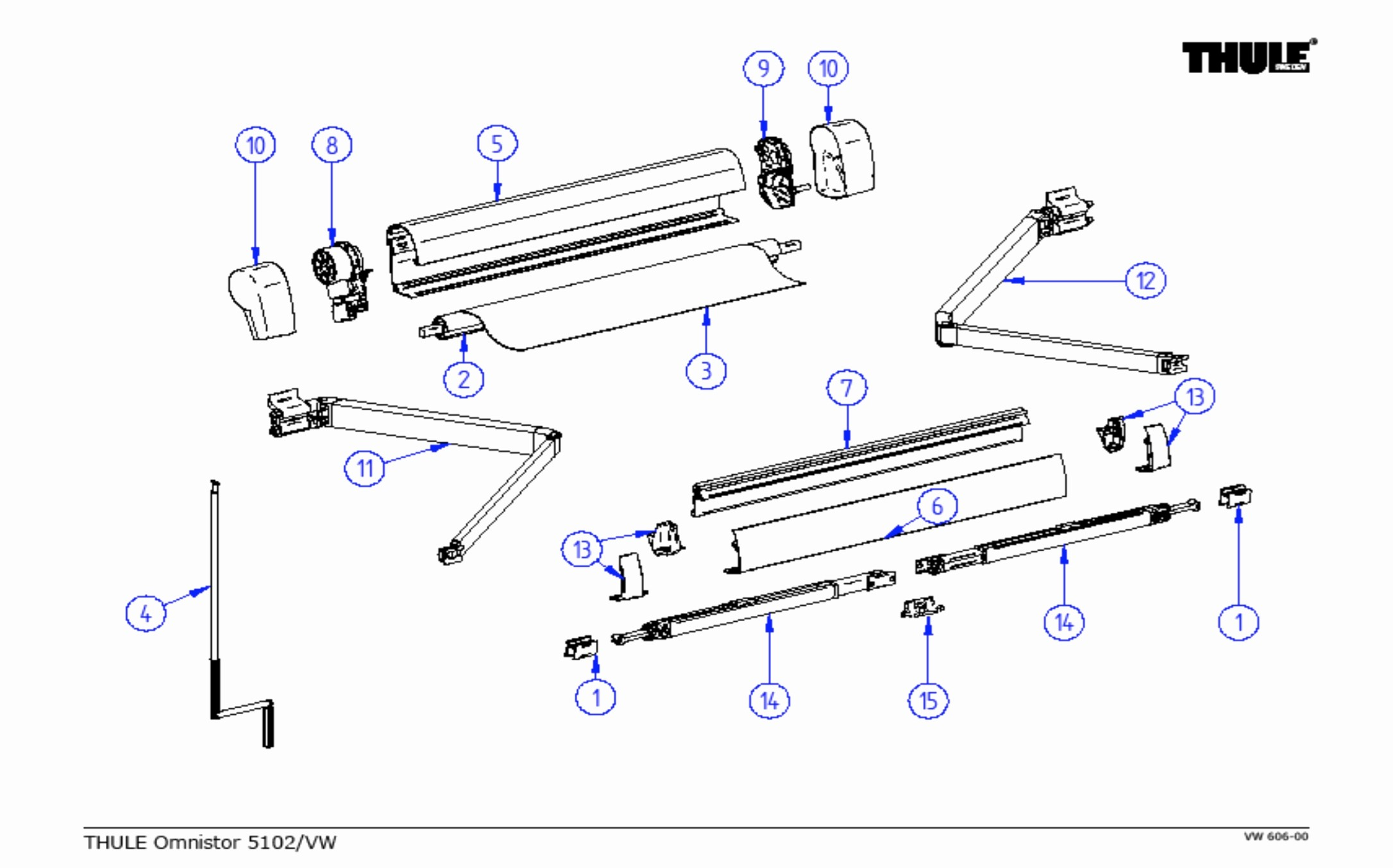 Carefree Awning Parts Diagram Fiamma F45s L H Leg Swivel