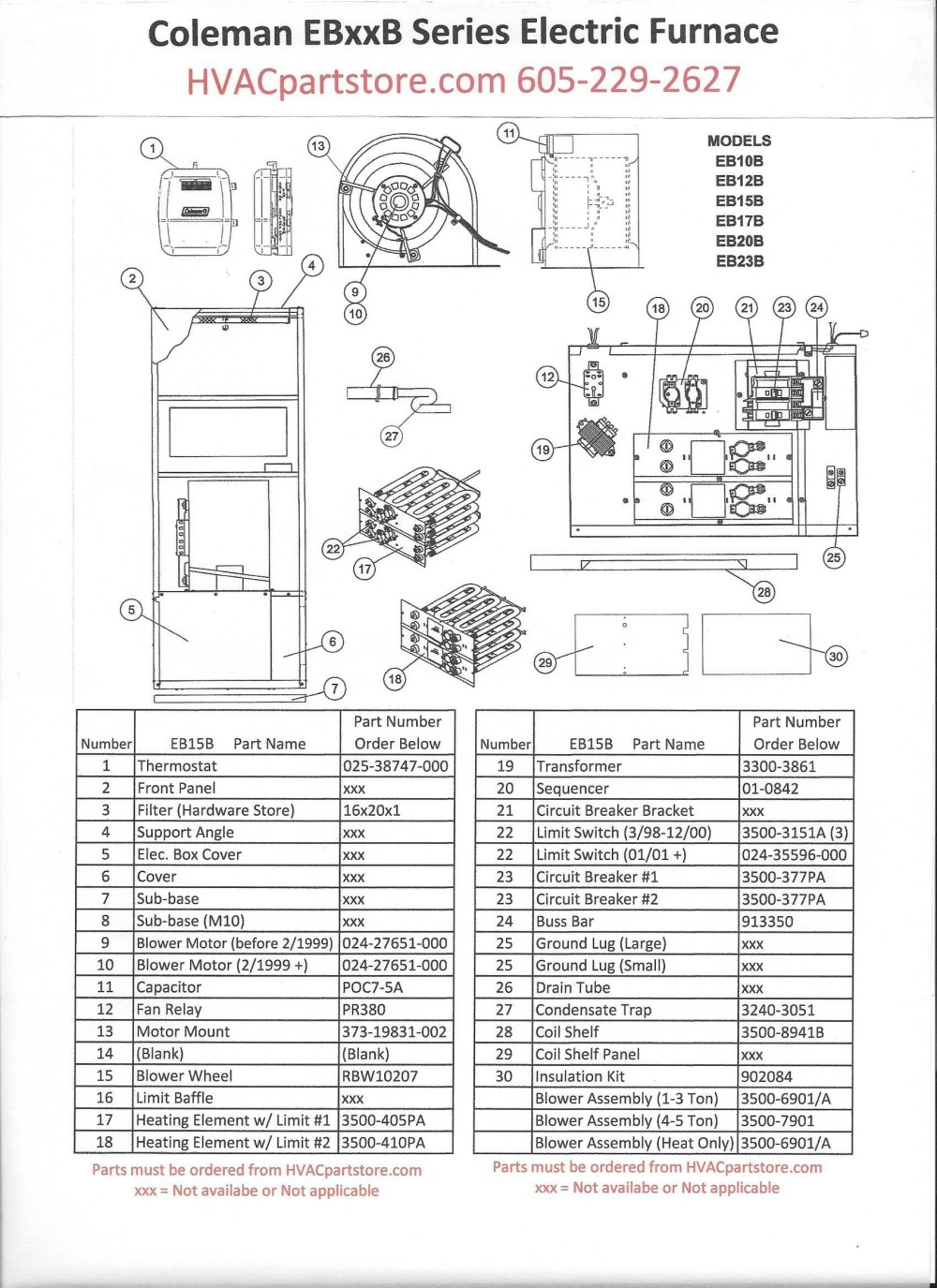 medium resolution of wiring diagram for the coleman 25 kw electric furnace courtesy 10 kw electric furnace wiring diagram