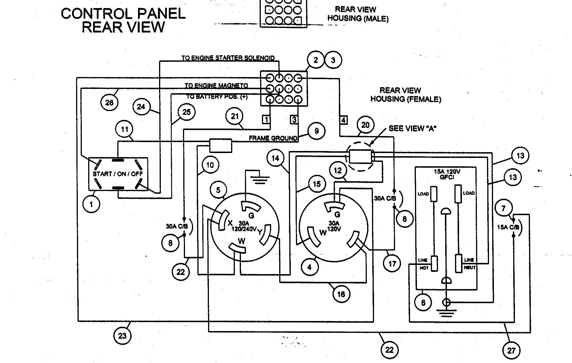 car mate trailer wiring diagram 2008 dodge ram 1500 fuse box coleman powermate 5000 parts generator ignition