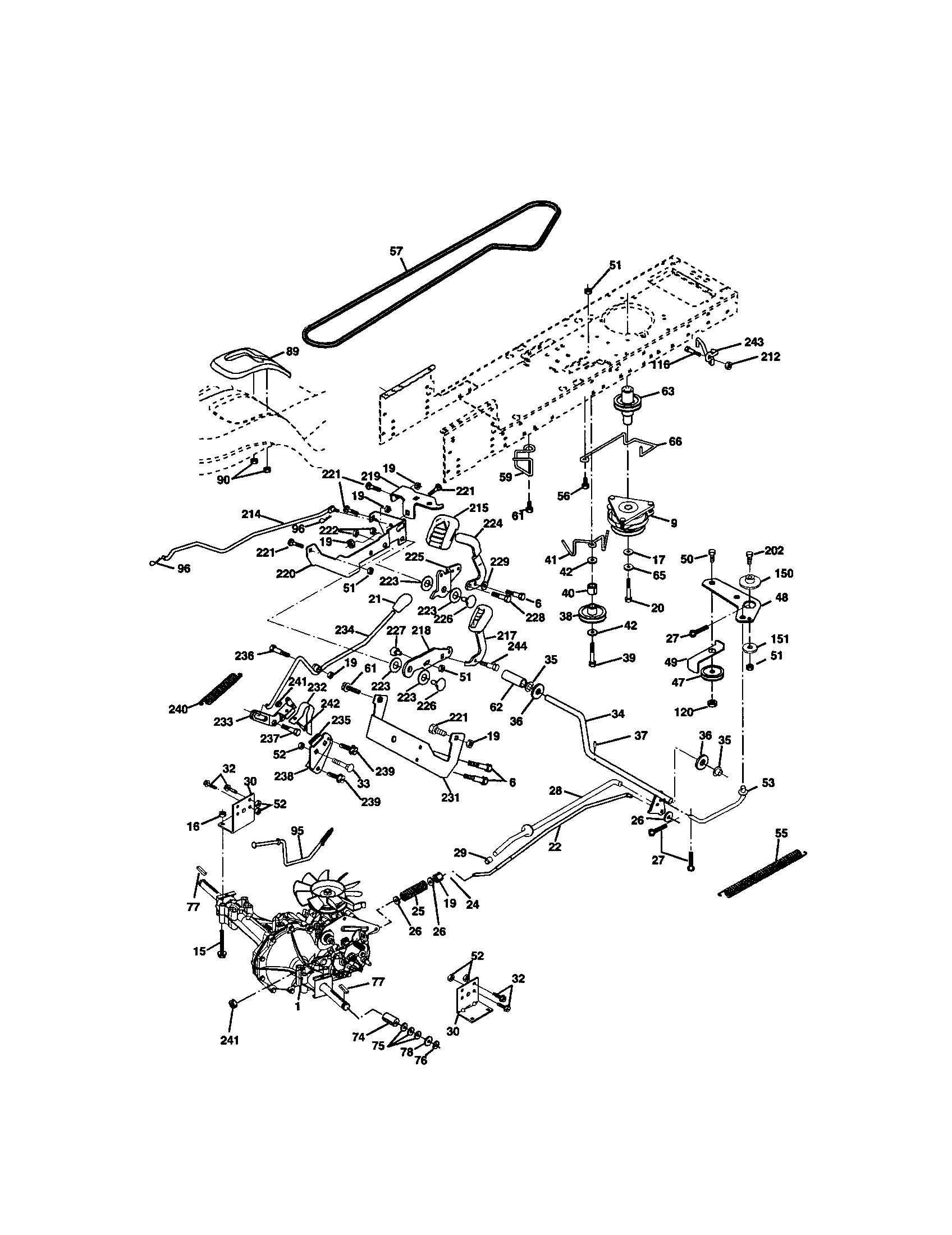 Craftsman Riding Mower Parts Diagram Craftsman Model Lawn