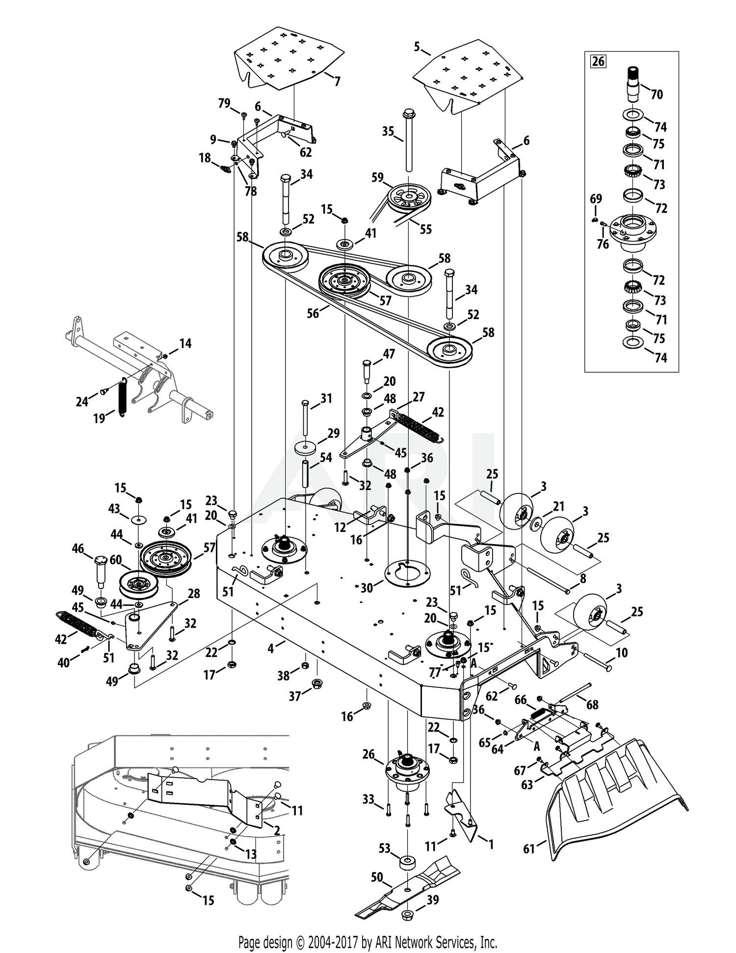 Cub cadet mower deck parts diagram cub cadet parts diagrams cub cadet tank l60kw 2015 53yi2rtd050