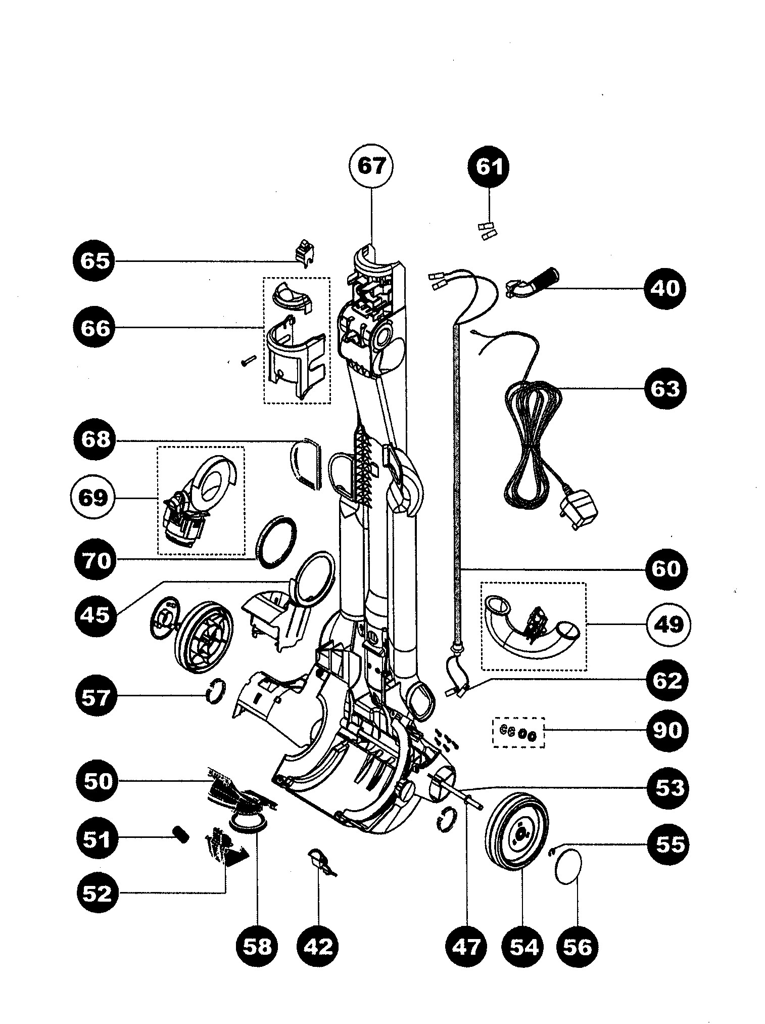 hight resolution of dyson dc25 parts diagram dc07 exploded drawings diagrams schematic of dyson dc25 parts diagram dyson dc40