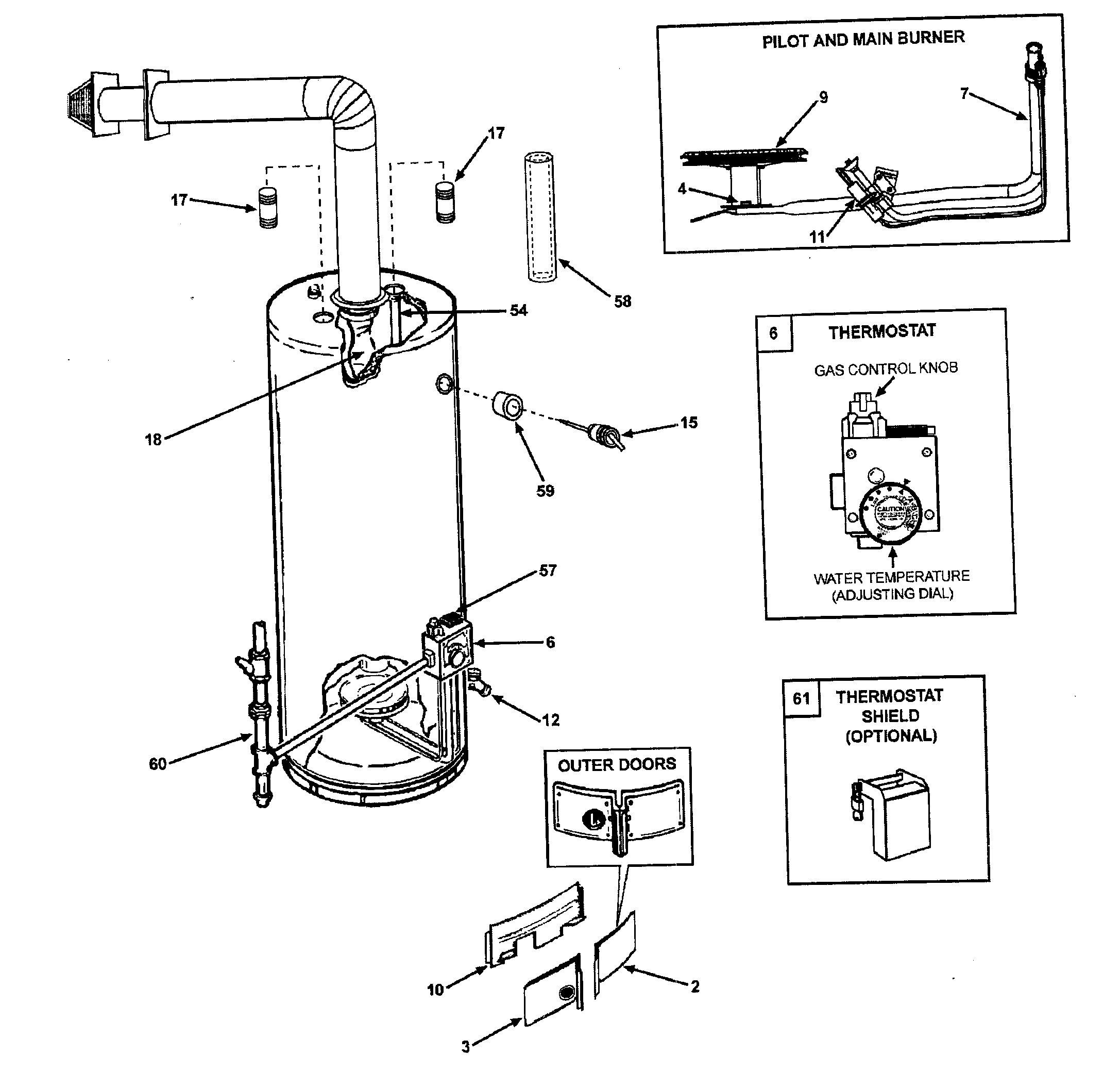 Electric Water Heater Parts Diagram Ao Smith Water Heater