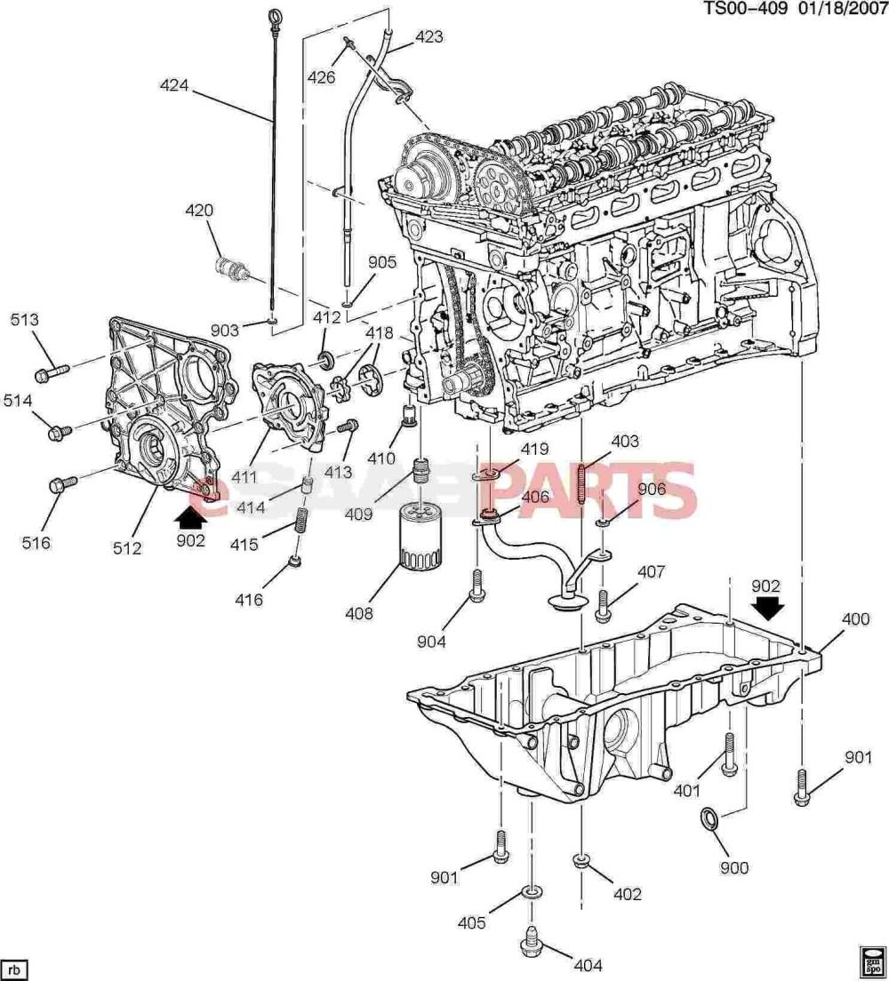 medium resolution of engine oil system diagram esaabparts saab 9 7x engine parts engine internal 4 2s of engine