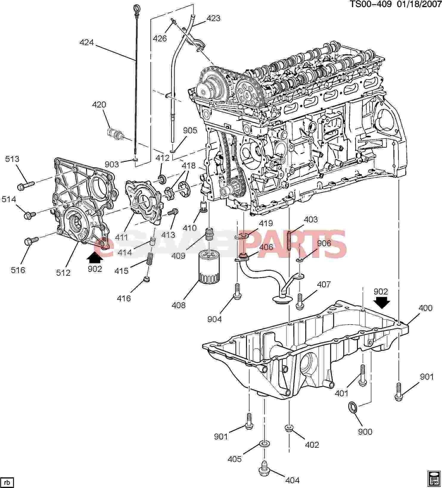 hight resolution of engine oil system diagram esaabparts saab 9 7x engine parts engine internal 4 2s of engine