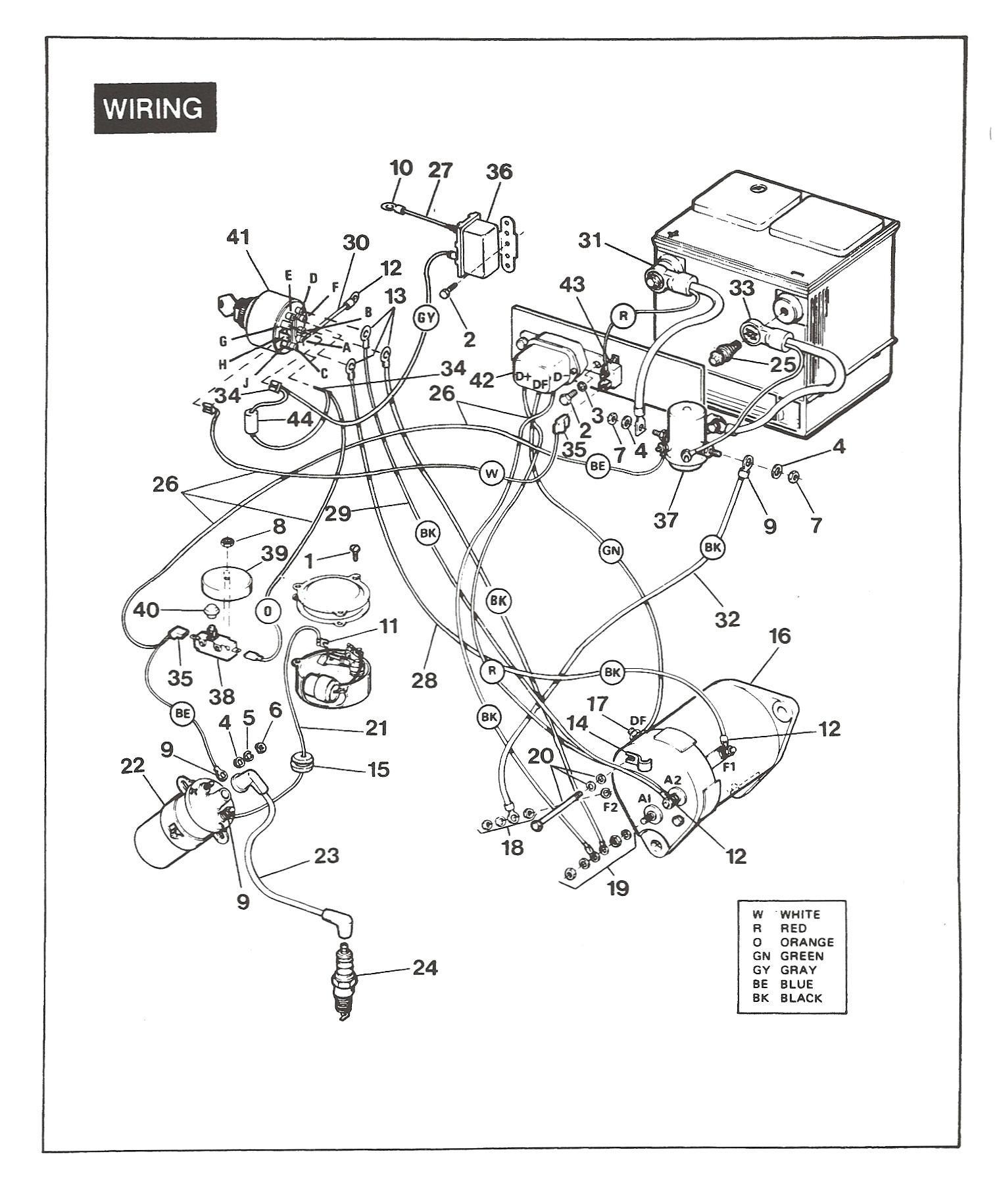 [44+] Ezgo Golf Cart Battery Wiring Diagram